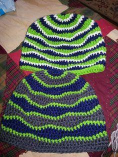 Crochet Seahawks Hat And Neck Warmer Football And Cartoon