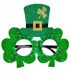 "Originele Bril, Klavertjes ""St.Patrick'S Day"" - e-Carnavalskleding"