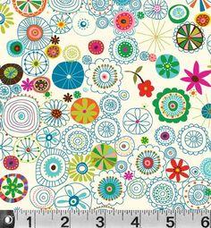 Multi Floral Illustration on White from Soul Garden by Carolyn Gavin - on Etsy