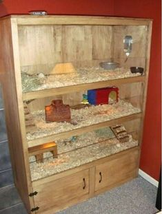 For Guinea Pigs (or hamsters, for that matter) Diy Guinea Pig Cage, Guinea Pig Hutch, Guinea Pig House, Pet Guinea Pigs, Guinea Pig Care, Pet Pigs, Hamsters, Hamster Cages, Teacup Pigs