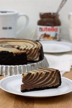 nutella zebra cheesecake