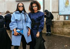 Shiona Turini in a Dior coat with a Chanel bag and Jan-Michael Quammie