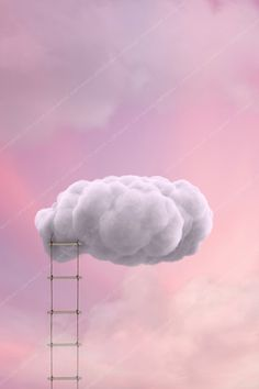 Ladder to the Clouds Backdrop Background / Newborn Photography Backdrop / Digital Background for Pho