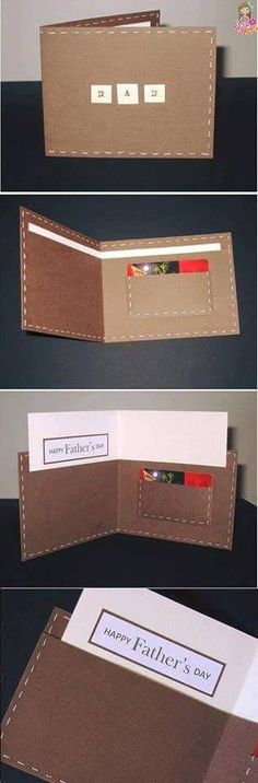 cool diy fathers day card ideas diy wallet card by diy ready at diy fathers day cards - PIPicStats Diy Father's Day Gifts, Father's Day Diy, Diy Wallet, Card Wallet, Diy Father's Day Cards, Men's Cards, Greeting Cards, Fathers Day Crafts, Masculine Cards