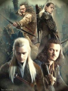 Legolas and Bard. So much awesome. Just add Kili and you got my 3 favorite archers of all time.