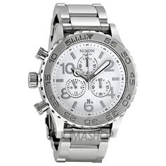 Nixon 42-20 Chrono Silver Dial Stainless Steel Mens Watch A037945 US$268