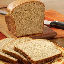 No-knead whole wheat bread.  This is a great recipe--mix, raise for 1 hour, and bake.  Good texture and healthy.