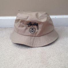 8eccee2ba965f Stussy Bucket Hat Worn once. Tan. Size S M Stussy Accessories Hats Stussy
