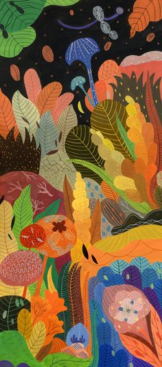 Inca Pan foliage-love the colours and boldness of this design.