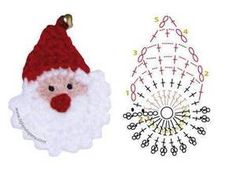 Snowmen Set of 6 Christmas Ornaments Package Tie Gift Crochet Snowman Crochet Christmas Decorations, Christmas Crochet Patterns, Crochet Christmas Ornaments, Crochet Decoration, Holiday Crochet, Santa Ornaments, Christmas Crafts, Noel Christmas, Crochet Santa