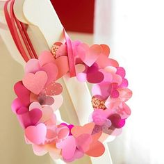 10 Days of Frugal Valentines Day Ideas - Day 6 - Fluttering Heart Wreath - Frugal Experiments