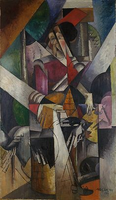 Albert Gleizes / Woman with Animals (Madame Raymond Duchamp Villon) /    completed by February 1914 / Oil on canvas