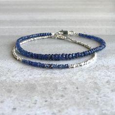 Items similar to Real Blue Sapphire Bracelet Sapphire Bracelet, Sapphire Jewelry, Gemstone Bracelets, Silver Bracelets, Bracelet Set, Jewelry Bracelets, Sterling Silver Bead Bracelet, Strand Bracelet, Diamond Bracelets