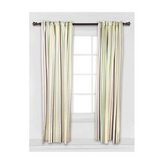 Found it at Wayfair - Mod Dots and Stripes Stripes Cotton Rod Pocket Curtain…