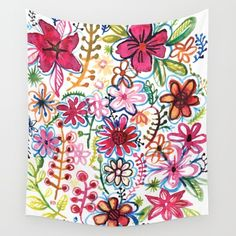 Misty meadow Wall Tapestry by Pani Grafik - $39.00