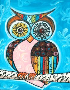 'Colorful Owl' by Jenny Hall