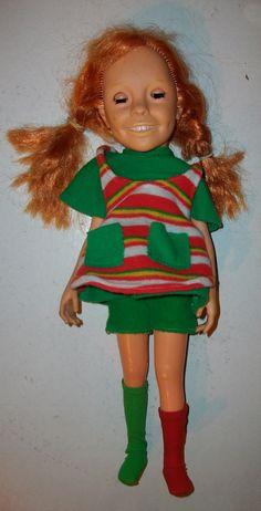 Vintage Pippi Longstocking Doll Made in Greece LYRA toys