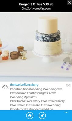 Tattoo Cake, Modern Cakes, Nontraditional Wedding, Wedding Cakes, Food, Wedding Gown Cakes, Essen, Cake Wedding, Meals