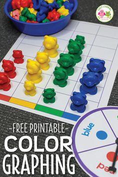 Preschool Color Activities, Graphing Activities, Preschool Centers, Preschool Lessons, Preschool Color Theme, Number Games Preschool, Montessori Preschool, Montessori Elementary, Activity Centers