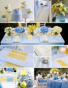 Awesome 25+ Pretty Blue And Yellow Flowers For Table Wedding Decoration https://oosile.com/25-pretty-blue-and-yellow-flowers-for-table-wedding-decoration-18603 Light Yellow Weddings, Yellow Wedding Colors, Yellow Theme, Yellow Flowers, Wedding Color Schemes, Blue Yellow, Pastel Yellow, Wedding Table, Wedding Reception