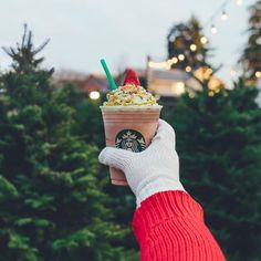 Strap it to the car, let's go.  #ChristmasTreeFrappuccino available now through Monday, 12/11! (US & Canada)