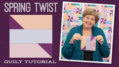 Spring Twist Quilt Pattern by Missouri Star - Missouri Star Quilt Co. - Missouri Star Quilt Co. - Finished size: x for Strips. From Missouri Star Quilt Company Jenny Doan Tutorials, Msqc Tutorials, Quilting Tutorials, Craft Tutorials, Quilting Designs, Quilting Ideas, Quilting Projects, Spring Twists, Jellyroll Quilts