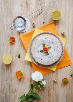 Gâteau au citron et amande sans gluten Tart, Pudding, Plates, Baking, Fruit, Tableware, Desserts, Lactose, Food