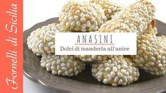 ANASINI - Dolci di mandorla siciliani all'anice (Sicilian almond desserts with anise) Italian Cookies, Sicilian, Cereal, Almond, The Creator, Sweets, Confetti, Cheese, Breakfast
