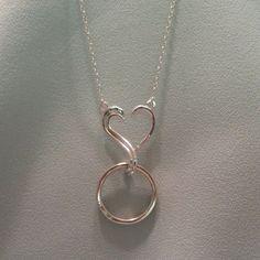 Wedding Ring Necklaces, Ring Holder Wedding, Silver Necklaces, Wedding Rings, Men Necklace, Silver Charms, Artisan Jewelry, Elk Ivory, Heart Ring