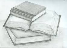 Image result for simple drawing pile of books