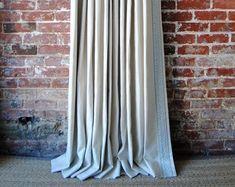 Drapery trim | Etsy Hippie Curtains, Ruffle Curtains, Green Curtains, Cafe Curtains, Grommet Curtains, Drapery, Linen Curtain, Window Curtains, Curtain Panels