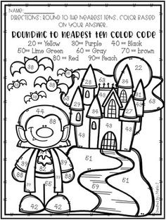 Your students will love this no prep, print and go color-by-numbers! Great to practice rounding to nearest 10 and There are 6 sheets, 3 rounding to the nearest ten, and 3 rounding to the nearest hundred. All Halloween themed! Halloween Crafts For Toddlers, Halloween Crafts For Kids, Halloween Activities, Toddler Crafts, Halloween Themes, Halloween Fun, Asylum Halloween, Math Groups, Fall Preschool