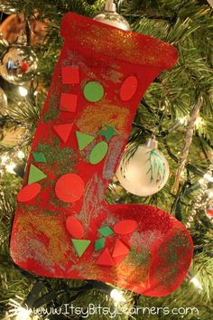 Christmas Preschool Craft: Stockings