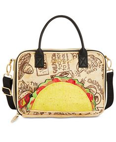 Betsey Johnson Let s Taco  Bout It Lunch Satchel Handbags   Accessories -  Macy s 44619292c5359
