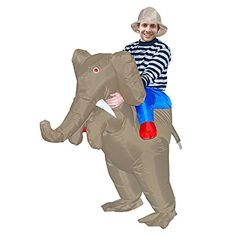 7083344038a97 Adult Costume Inflatable Elephant Costumes Ride on Elephant for Halloween  Party Mens & Womens