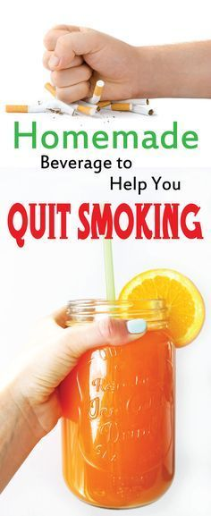 Homemade Beverage to help you QUIT SMOKING