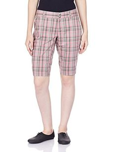 Columbia Sportswear Womens Saturday Trail II Plaid Shorts Tropic Pink Plaid 14 x 12 -- Continue to the product at the image link.