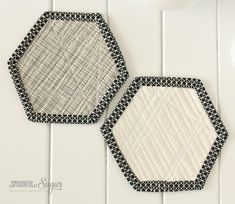 Hexagon Coasters Sewing Tutorial by A Spoonful of Sugar