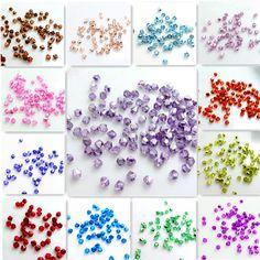 Los Colores de moda 200 unids de cristal cristalinos de bicone granos flojos del espaciador de 3mm Joyería de los granos DIY