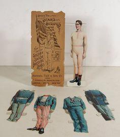 CA1894 Set of Raphael Tuck Paper Dolls American Soldier Sailor Uncle Sam | eBay