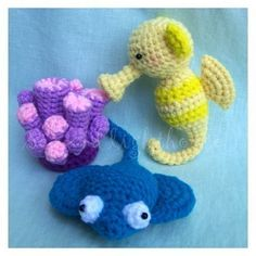 Crochet Pattern  friends from ocean seahorse by seaandlighthouse, $6.50