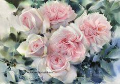 Roses   Watercolor painting  by Adisorn Pornsirikarn