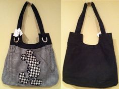 Disney Parks Mickey Mouse Tote Bag: Black and « Clothing Impulse