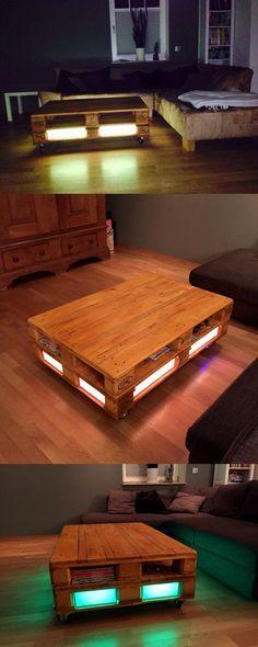 Der Couchtisch madera verwandelt alte Euro-Paletten in einen stilvollen Hingucker für dein Wohnzimmer. Zeige auch du uns, wie du eine Palette wieder zum Leben erweckst! #industrialdesign #interior
