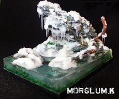 Base Fantasy winter ice water icycles #base #bases #miniatures #wargaming #hobby #wellofeternity
