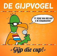 René van der Gijp gaat de oranjekoorts in Nederland nog verder aanwakkeren met de humoristische EK-single Gijp die Cup