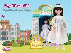 Royal Flower Girl Lottie - Congratulations Harry and Meghan! Flower Girl Gifts, Harry And Meghan, Flower Crown, Playing Dress Up, Girl Dolls, Perfect Wedding, Wedding Favors, Congratulations, Super Cute