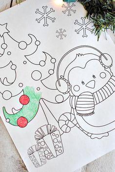 10 Christmas Coloring Pages Printable Wall Art