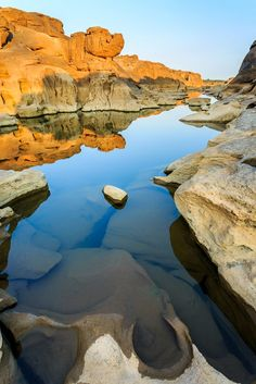 The mighty Sam Phan Bok Canyon in Ubon Ratchathani in eastern Thailand