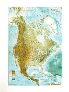 Canada Map North America Map Map Of Canada Bartholomew - Map of us canada